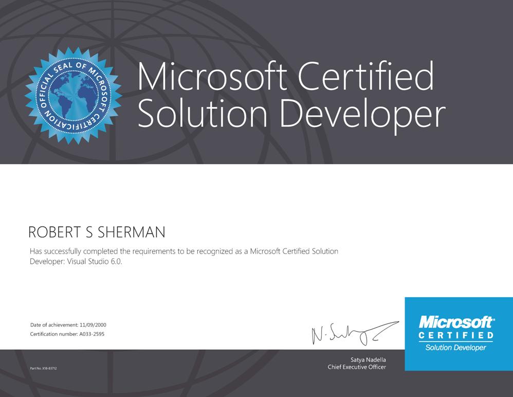 Certification Robertsoft Web Development Database Programming